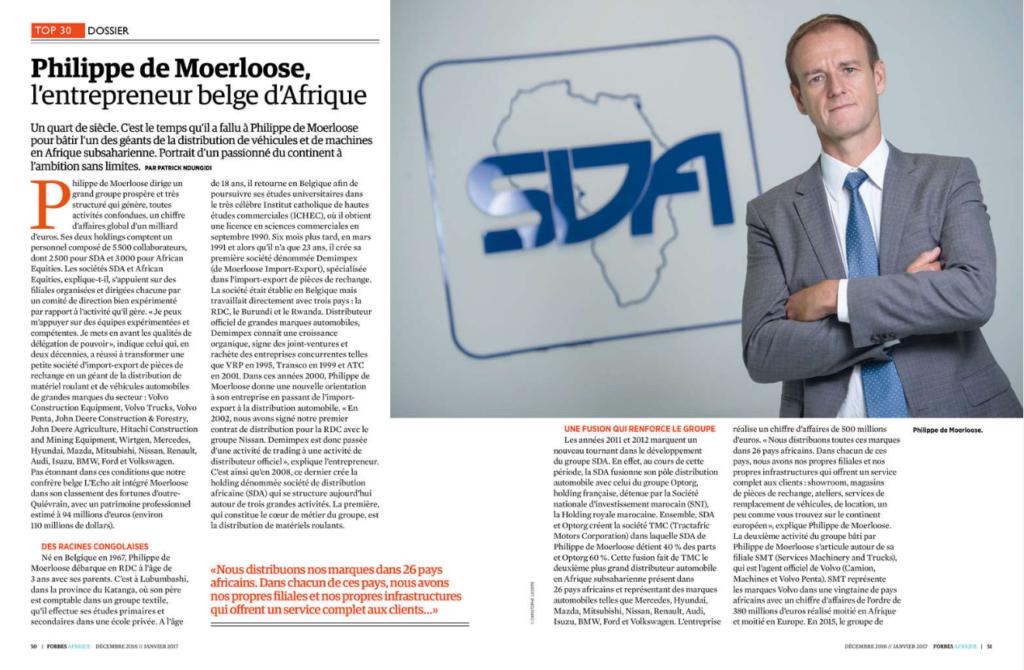 Philippe de Moerloose, l'entrepreneur belge d'Afrique